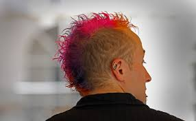 Mohawk, colored styles by Aspire Hair Design, Citrus Heights, CA